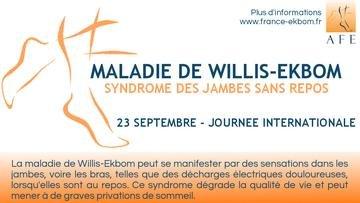 Journée internationale de la maladie de Willis Ekbom 2021